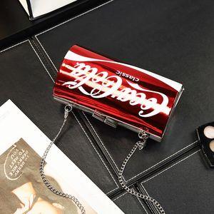 2018款个性字母可口可乐包女易拉罐包单肩链条包可乐瓶斜挎小包包