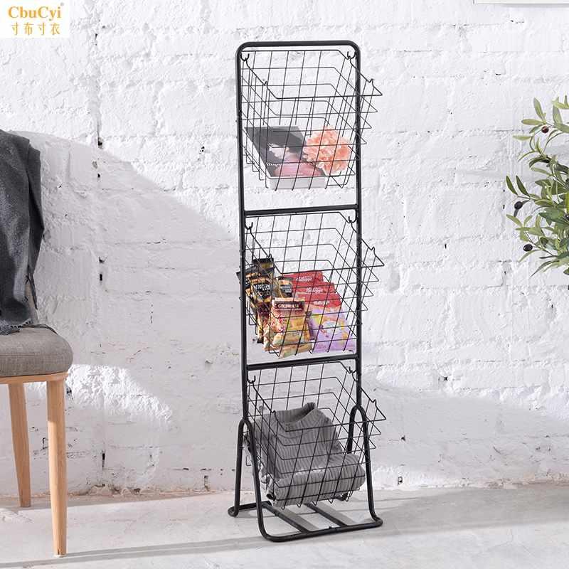 厨房蔬菜置物架落地多层放菜架家用储物架多功能水果收纳筐菜篮子