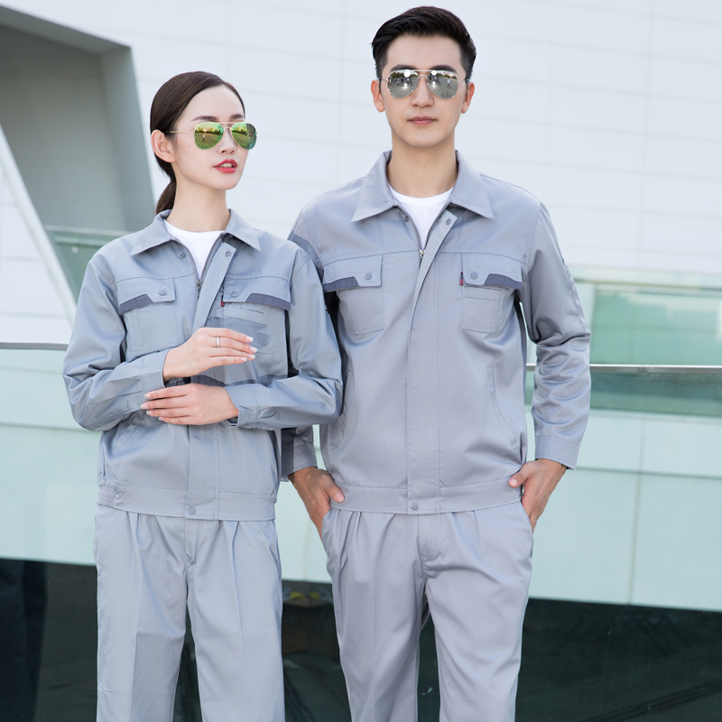 Gas station workers work clothes autumn and winter long sleeve suit anti static railway supervision electrical clothing gas station clothing
