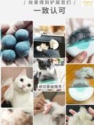 宠物贝壳猫咪梳子英短刷毛器狗撸毛掉去浮毛神器撸猫专用毛刷针梳