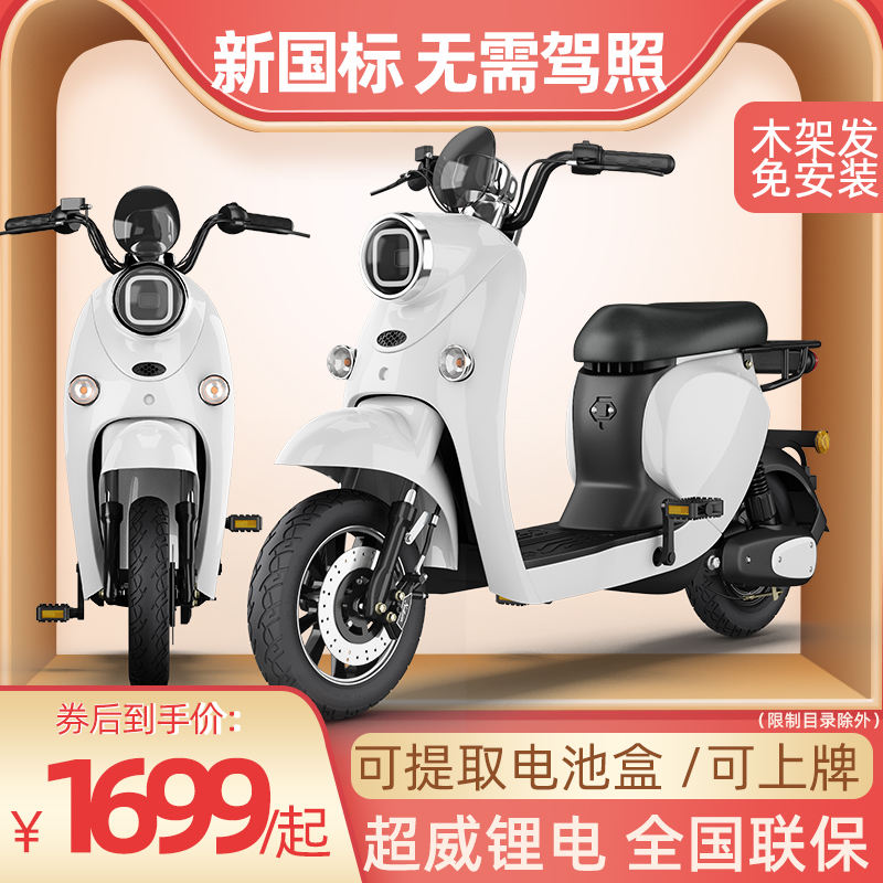 New national standard electric vehicle 48V lithium battery pedal power assisted tram small substitute womens turtle electric bicycle