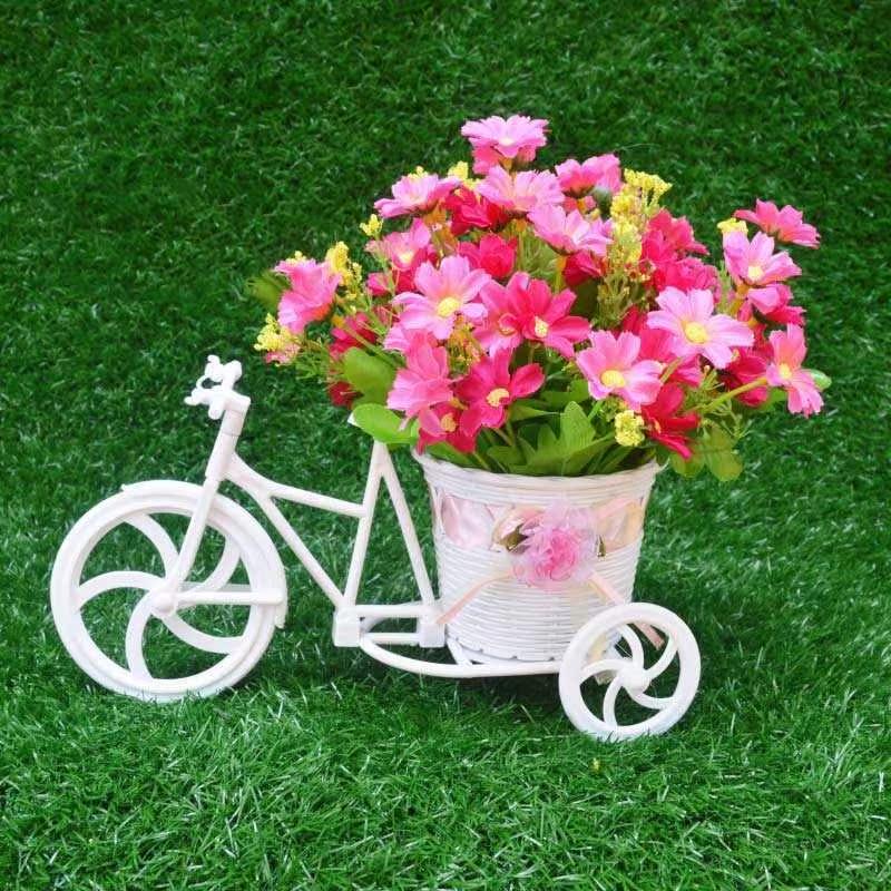 钜惠来袭客厅绢花干花束塑料假花仿真花车套装饰品家居室内餐桌