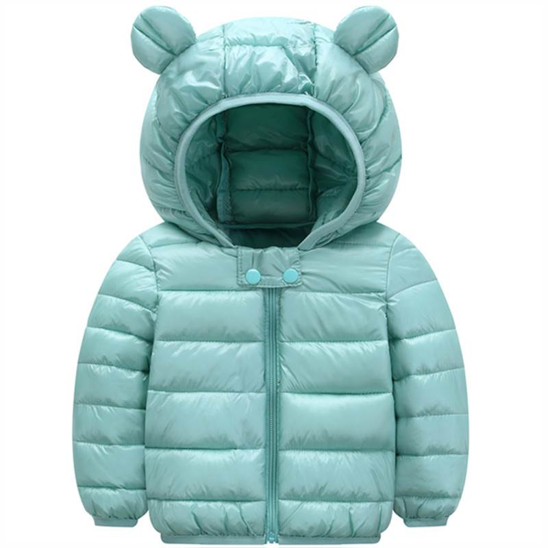 Childrens down jacket Yinghu treasure blue jacket Baotou oversized clothes 3-5 years old boys protective clothing in 2018 Pink