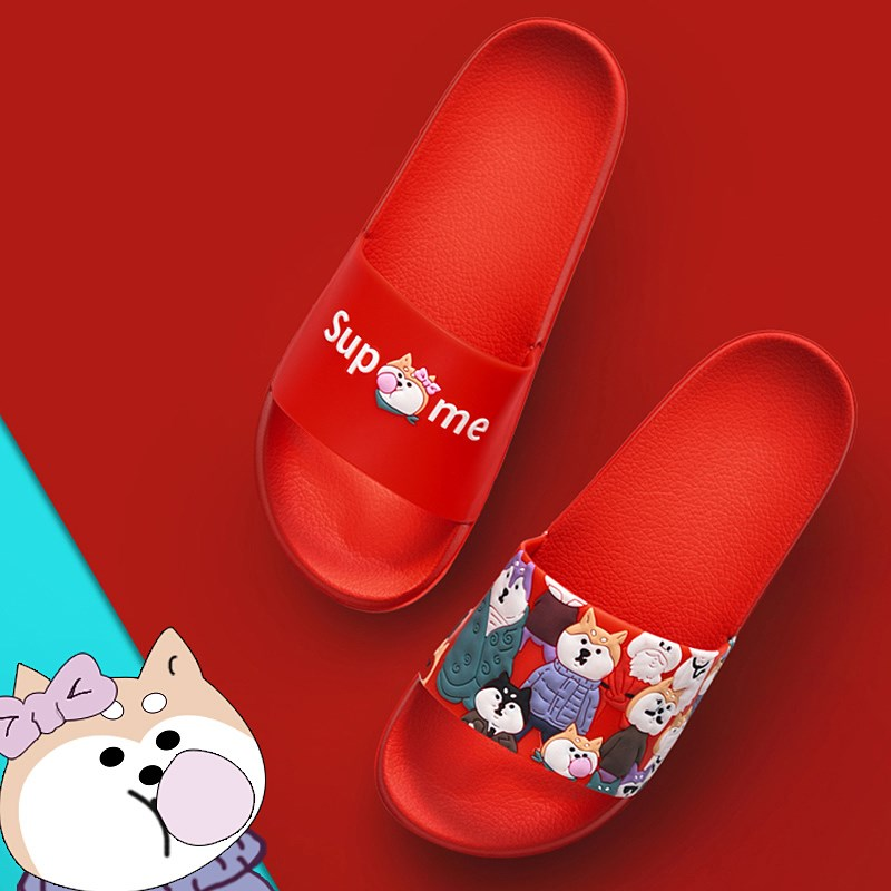 2019 personalized soft soled slippers bath womens ins wear Korean original house style summer fashion net red girl heart