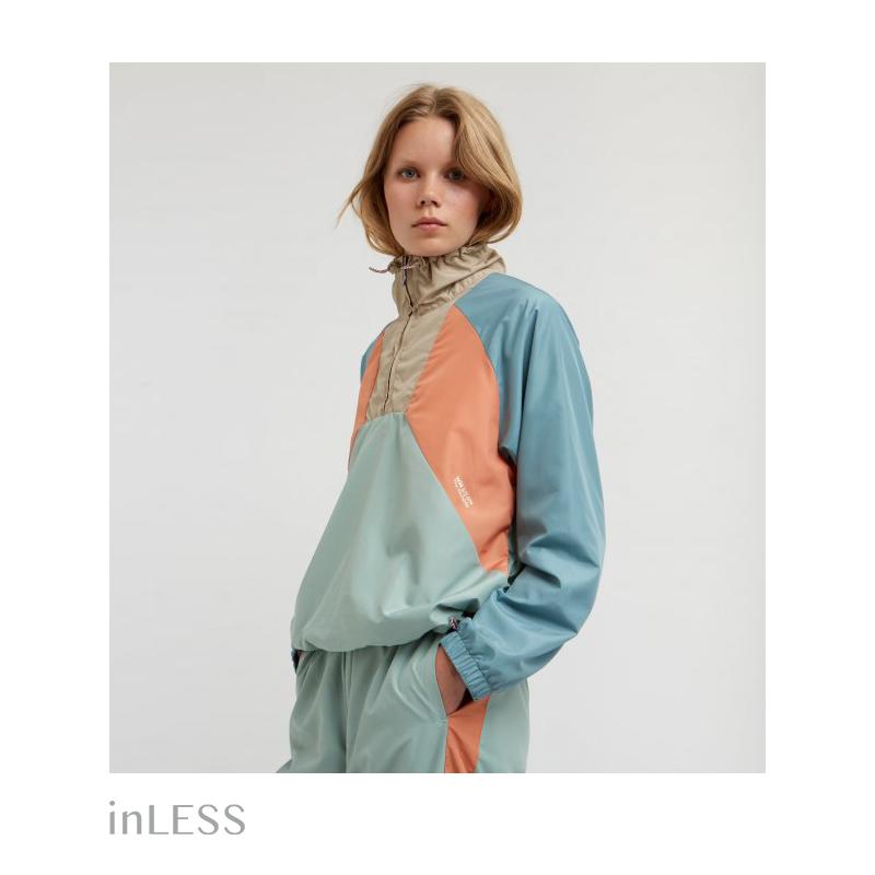 inLESS丨现货woodwood丹麦复古拼接撞色轻薄透气运动夹克风衣女