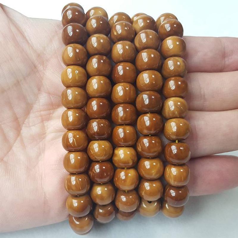 。选库克手串108颗佛珠藏式手持念珠多圈手链菩提子文玩项链男