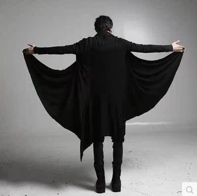 夏季非主流男装刺客信条大衣暗黑系风衣长款开衫宽松外套斗篷披风