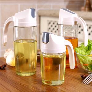 自动开合油壶日本家用厨房用品大容量玻璃防漏小酱油醋瓶油罐油瓶