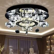温馨卧室吸顶灯简约现代水晶灯圆形个姓书房餐厅灯具新款卡迪森