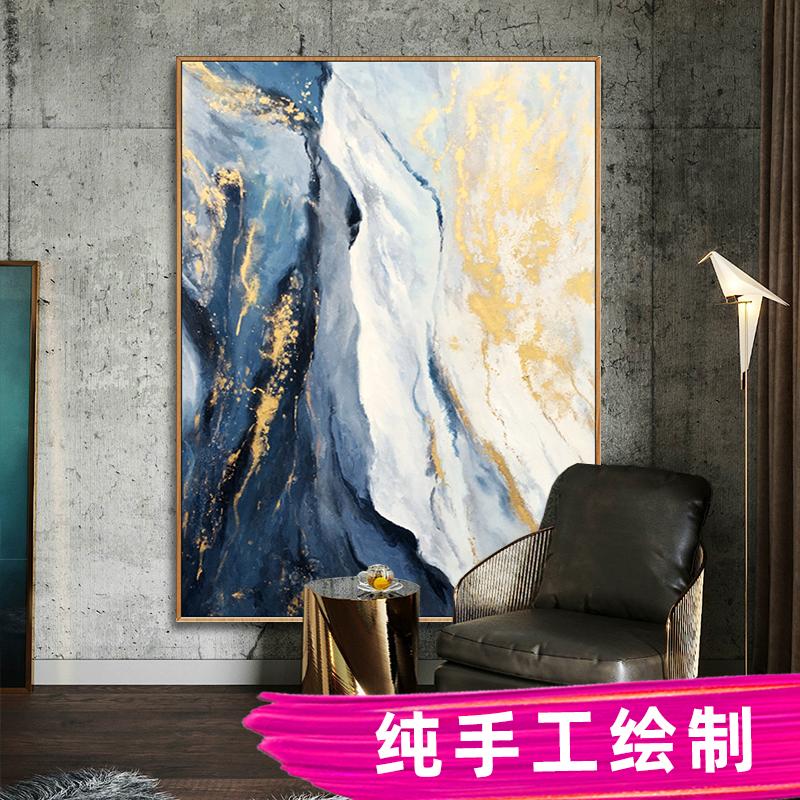 臥室床頭畫玄關壁畫純手繪油畫沙發背景輕奢掛畫定制大尺寸裝飾畫