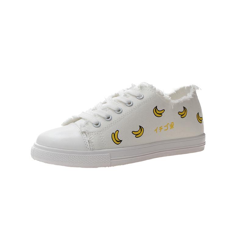 草莓香蕉网红透气2020夏季小白鞋怎么样