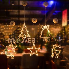 圣诞节装饰场景布置圣诞树挂件圣诞氛围店铺店面橱窗灯礼物装饰品图片