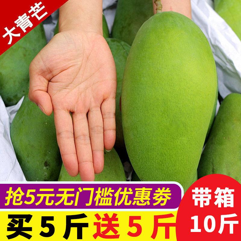 超大芒果带箱10斤攀枝花新鲜应季水果特大青皮凯特芒大青芒果包邮