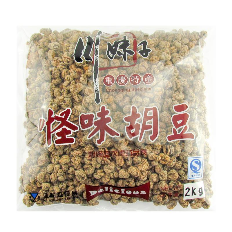 包邮川妹子怪味胡豆2kg大包装重庆特产蚕豆麻辣休闲零食小吃