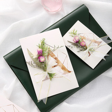 DIY material bag of dry flower three-dimensional greeting card