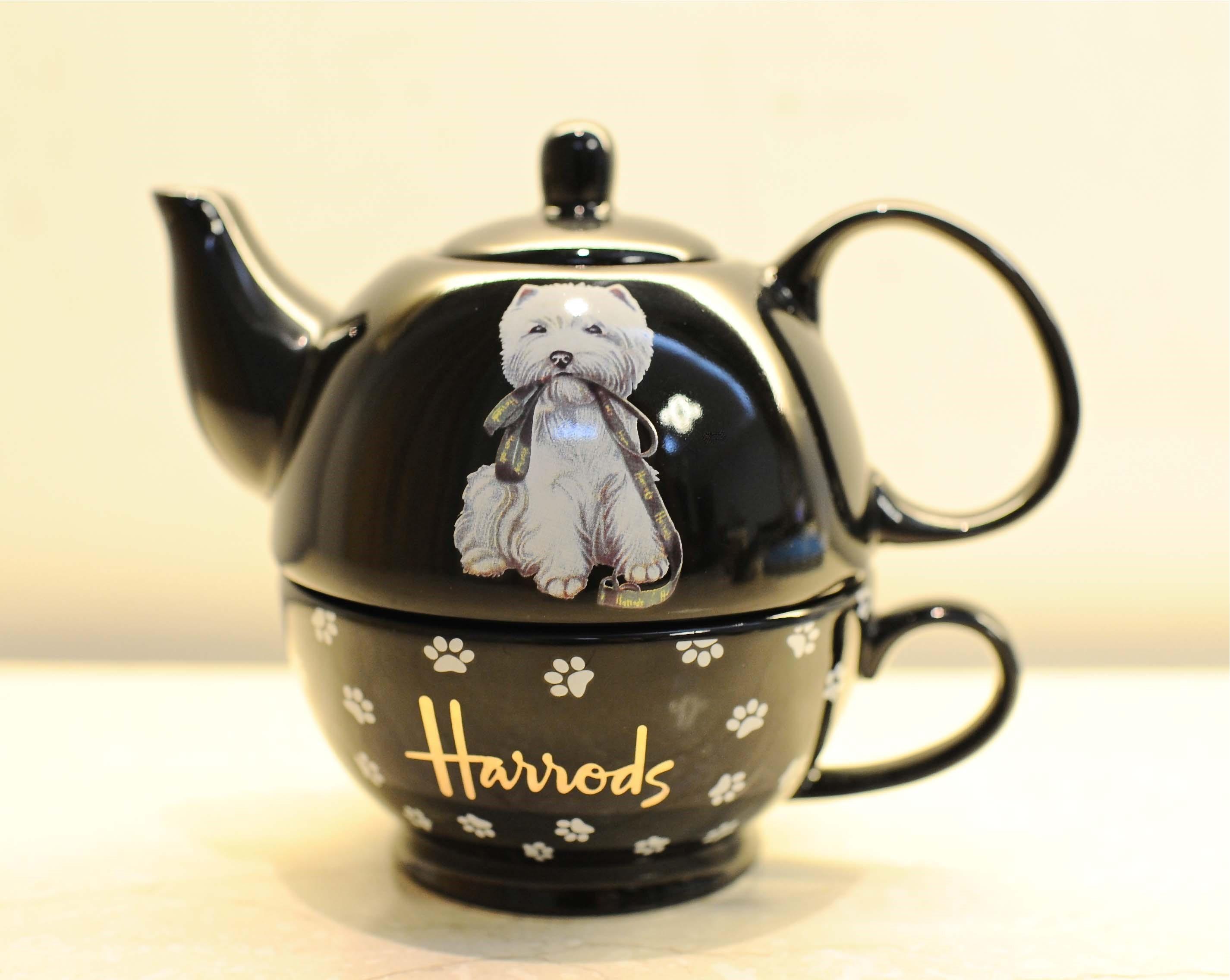 英式茶具哈罗斯Harrods茶杯骨瓷欧式茶包碟西高地陶瓷茶壶子母壶