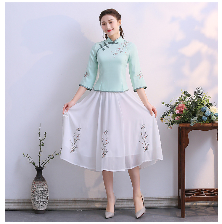 Improved Cheongsam Two-piece Slim Fit 2020 Spring and Summer Fashion Chinese Style Tang Dress