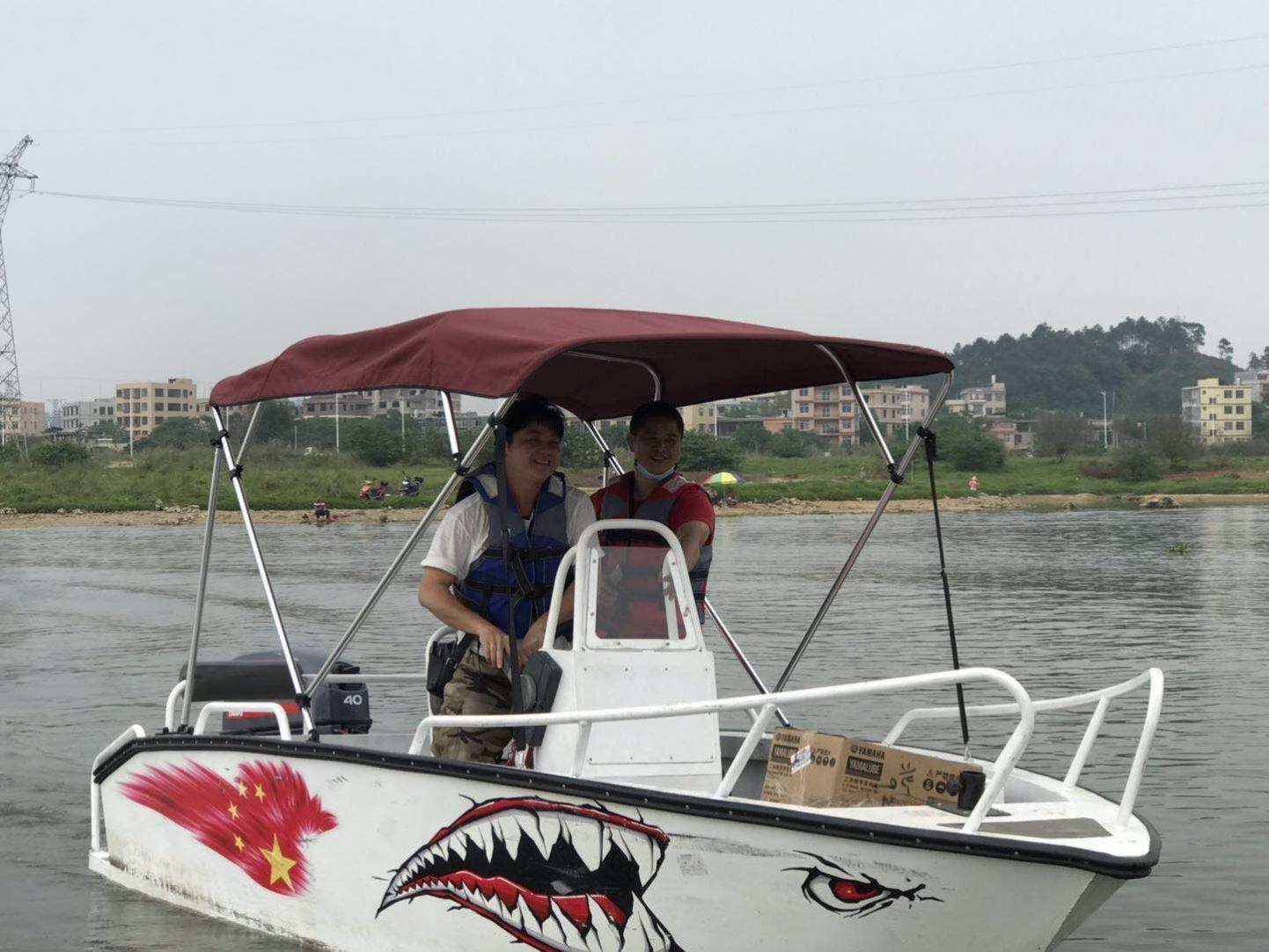 快艇遮阳棚棚子雨棚橡皮艇防水钓鱼艇加厚款挡雨棚船用游艇遮阳挡
