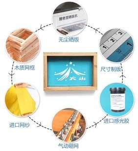 丝印网版制作丝网制版丝网板水油性丝网印刷模板油墨印刷订做木框