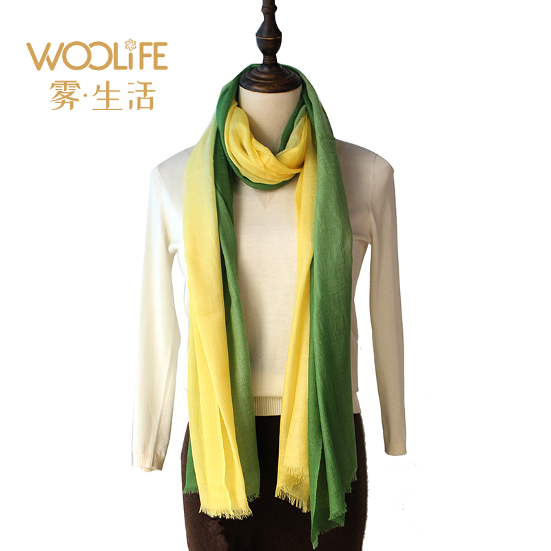 Woolife yak hair wool women summer air conditioning shawl thin high end scarf gift box
