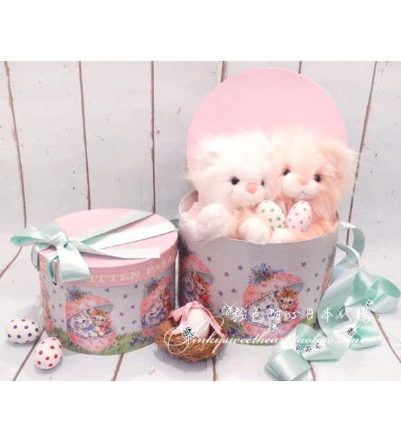 Розовый дорогая япония прямо отдавать katie 3 месяц милый кот. микрофон круглый в коробку