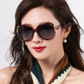 太阳镜女 偏光圆脸眼睛防晒女式 女士墨镜2019新款 防紫外线眼镜时尚