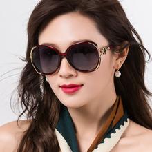 太阳镜女 防紫外线眼镜时尚 偏光圆脸眼睛防晒女式 女士墨镜2019新款