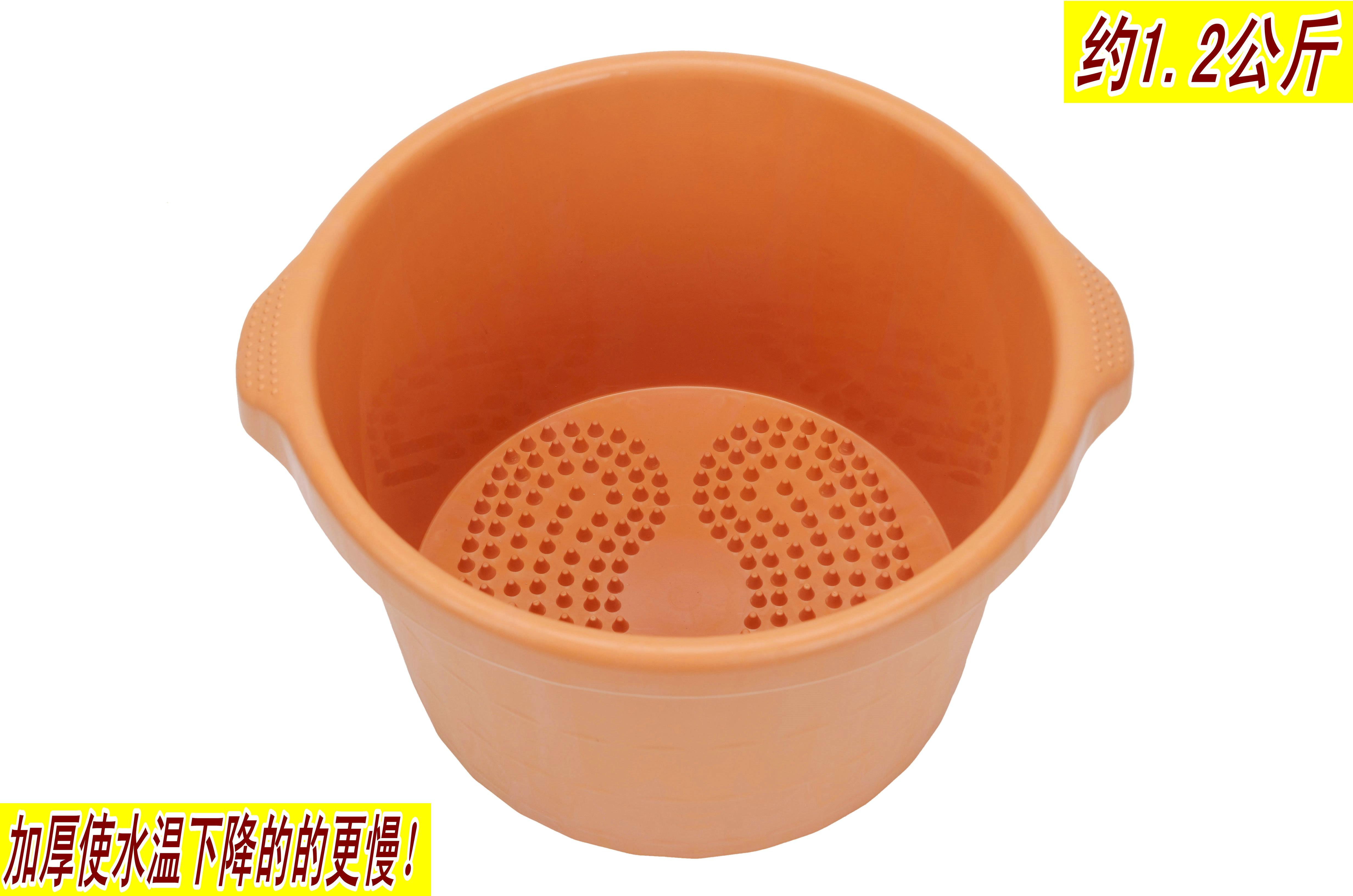耐摔加厚加高塑料泡脚桶按摩底洗脚盆足浴盆桶泡脚盆仿木桶包邮