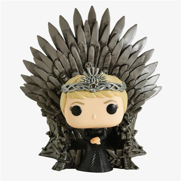 Homemade Funko pop 73 ice and fire song power game cersei throne hand made model ornament