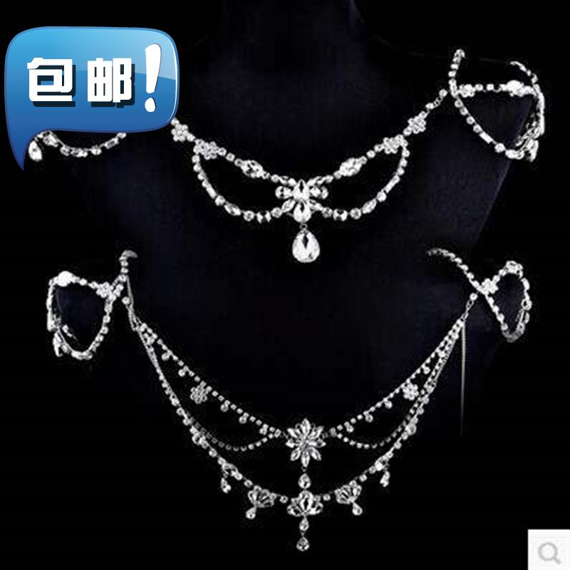 Chong Guan f purchase 2016 mixed batch bridal shoulder chain wedding jewelry shoulder chain crystal