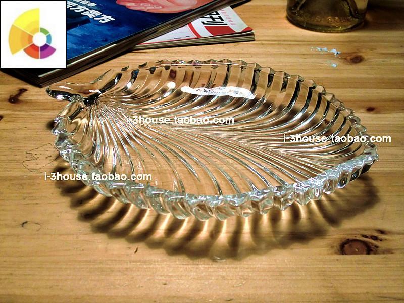 玻璃碟子居家摆件玻璃餐具餐碟糖果碟子果盘色拉盘点心盘子