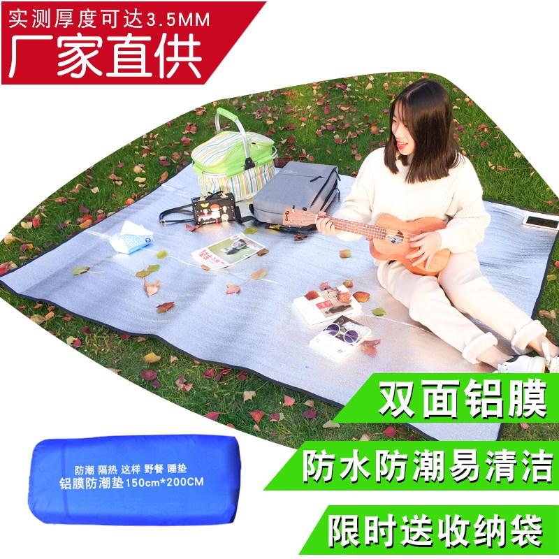 单人宿舍学生家用便携野餐垫野餐布铝膜防潮垫户外加厚帐篷垫子