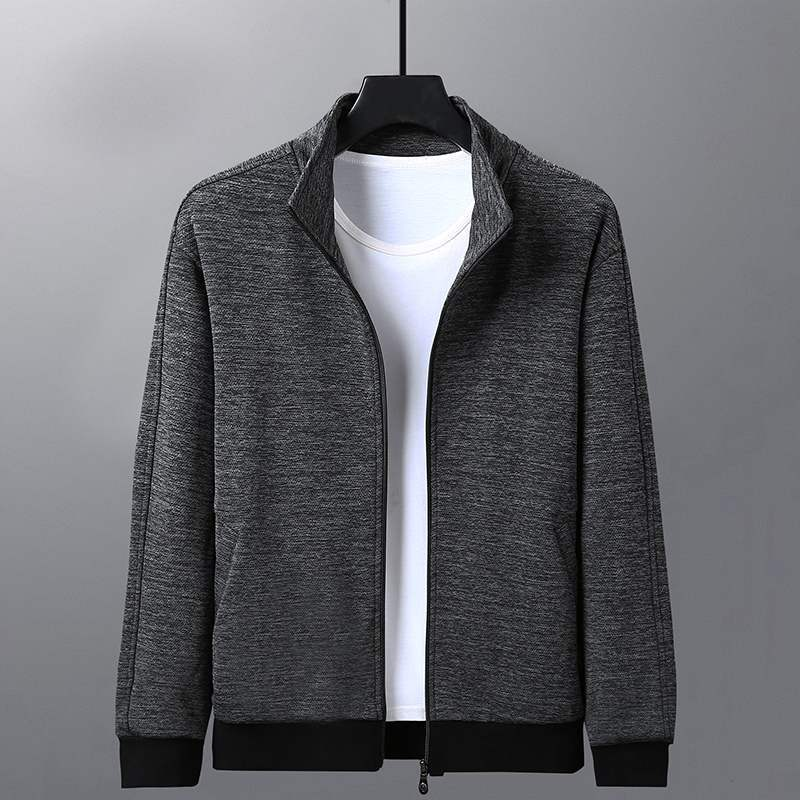 Official website red bean middle-aged and elderly stand collar jacket spring and autumn middle-aged mens sportswear casual sweater dad autumn