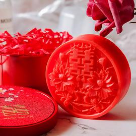 喜庆双喜字皂手工精油皂结婚香皂红肥皂回礼伴手礼礼盒婚庆礼品皂