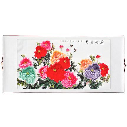 书法山水花鸟梅花牡丹客厅装饰画