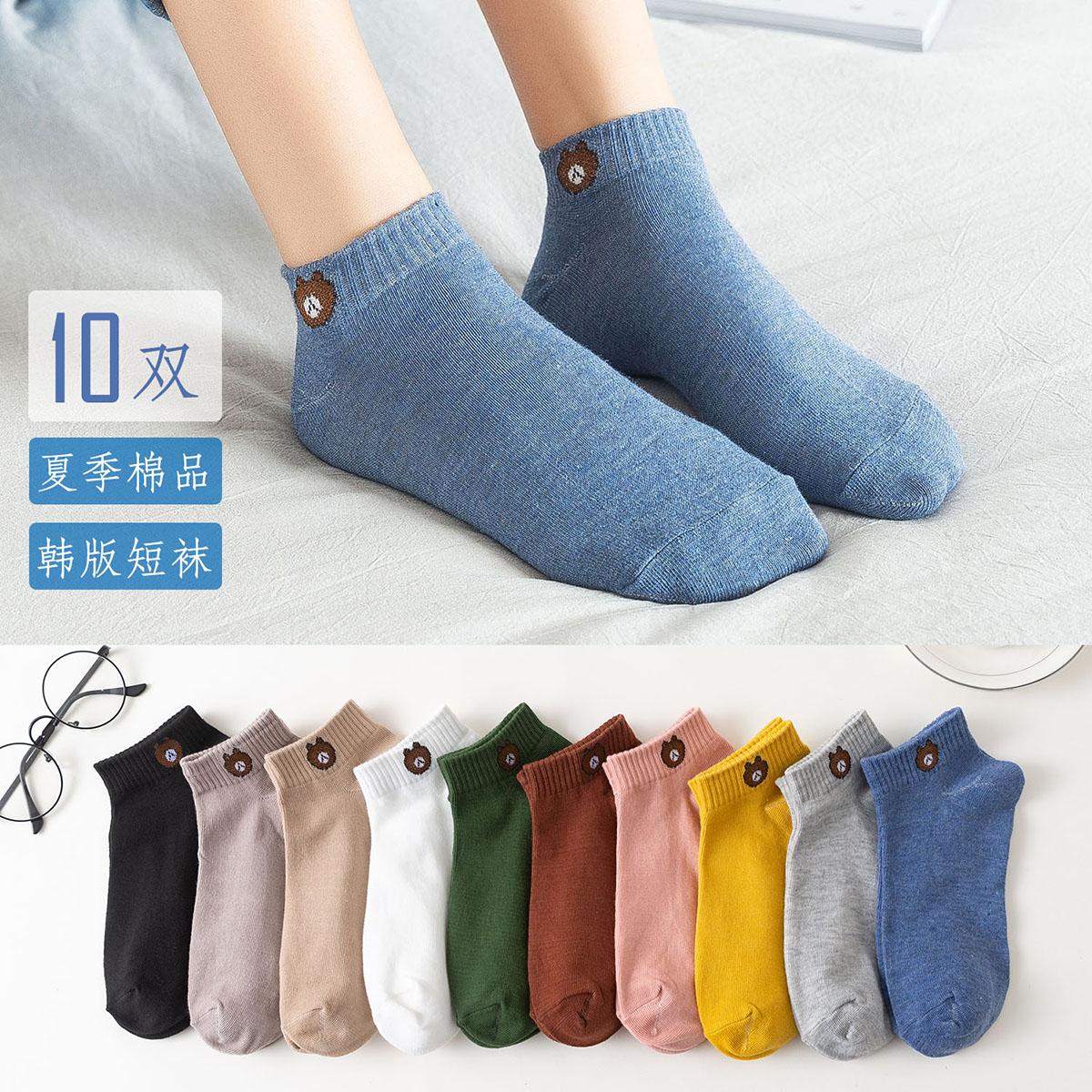 夏季薄款浅口日系ulzzang可爱双韩版短袜纯棉船袜女袜子潮低帮10