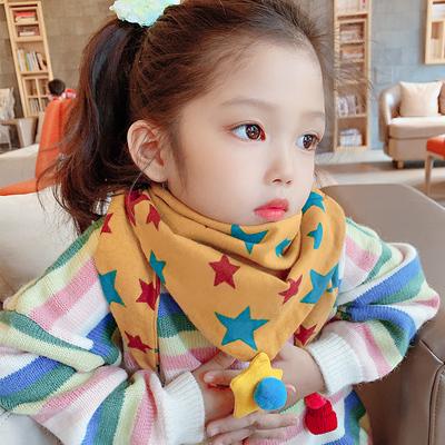 儿童围巾春秋薄款宝宝围脖冬季女童可爱男童韩版潮婴儿保暖三角巾