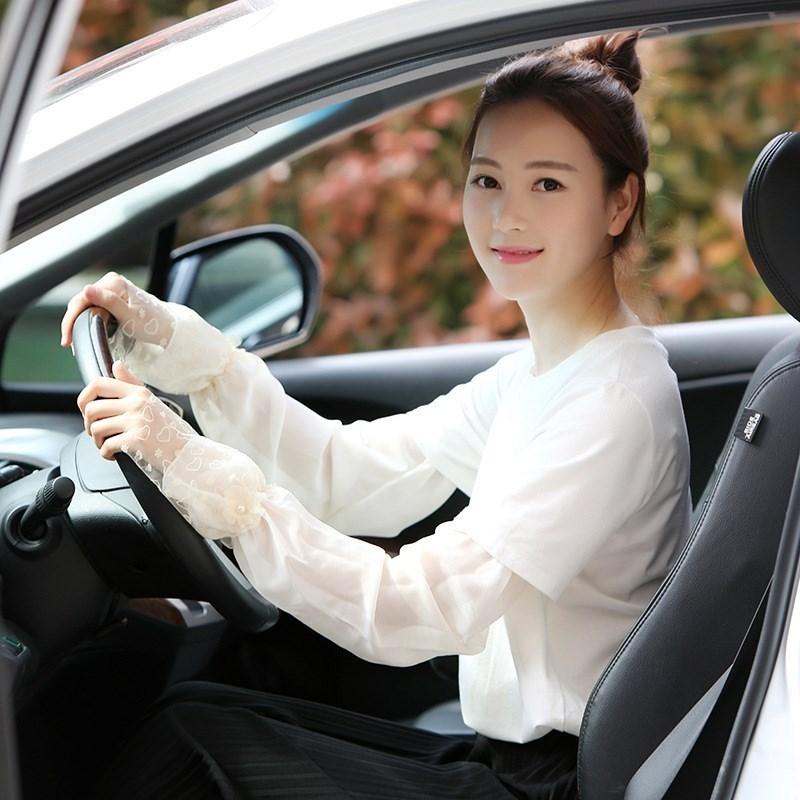 择优家新品网纱手套女冰丝袖套长款夏季开车防紫外线薄款蕾丝