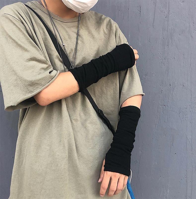 露趾手套嘻哈袖套2019年工作简约蹦迪手臂套火影忍者情侣短款新款