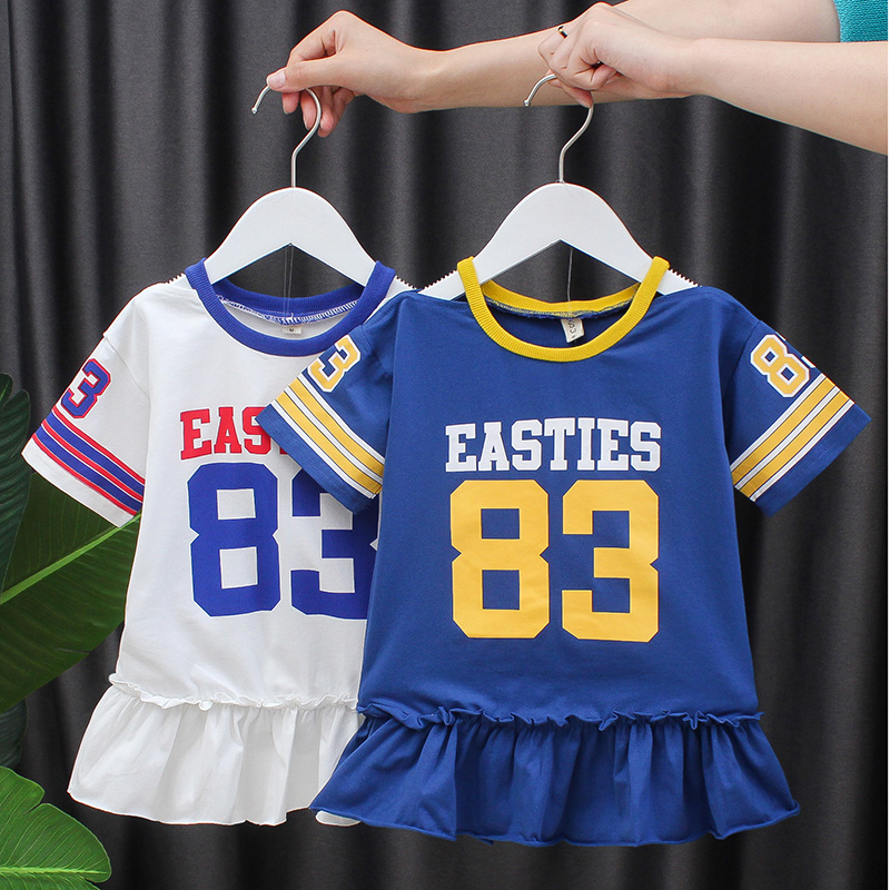 Korean summer girls dress 1 baby summer skirt 2 childrens dress summer baby 3 childrens short sleeve 4