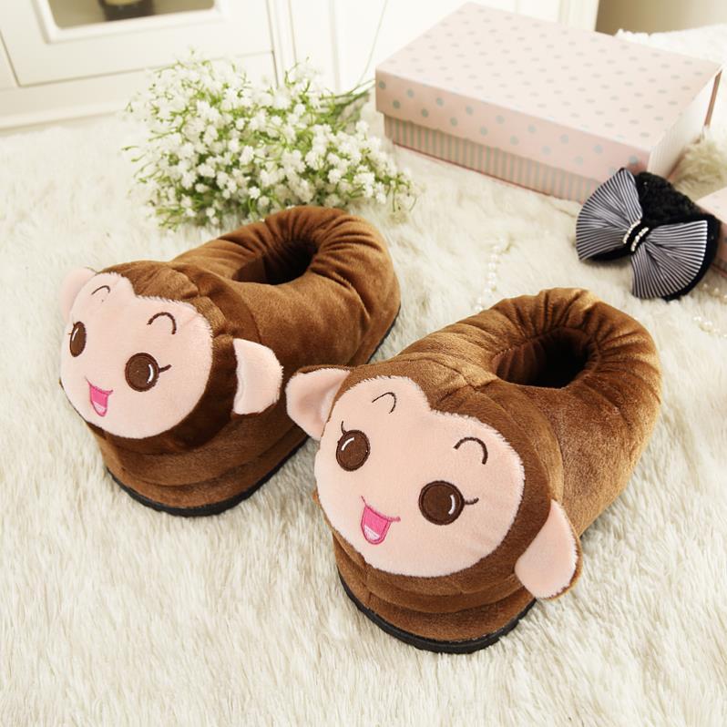秋冬季兔子大人韩式棉鞋加绒女家居室内老人新款女士女童动物拖鞋