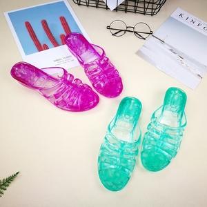 水晶公主女拖鞋日常居家鞋子夏季软底坡跟时尚女鞋防滑透明女凉拖