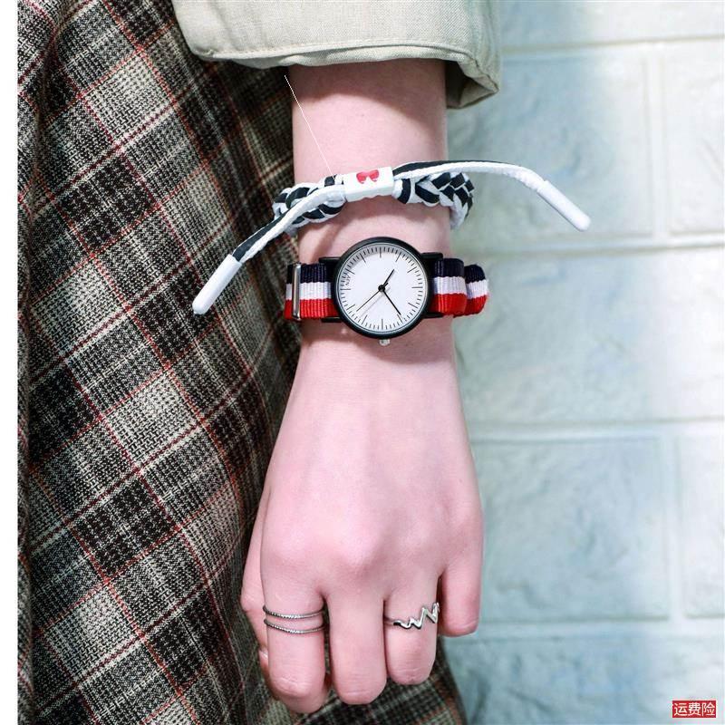 British Wind canvas belt quartz watch fashion cloth belt watch womens fashion sports trend temperament Watch