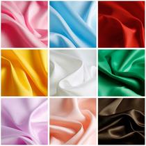 哑光色丁绸缎布料加密加厚纯色绸面丝绸汉服礼服礼盒内衬里衬里布