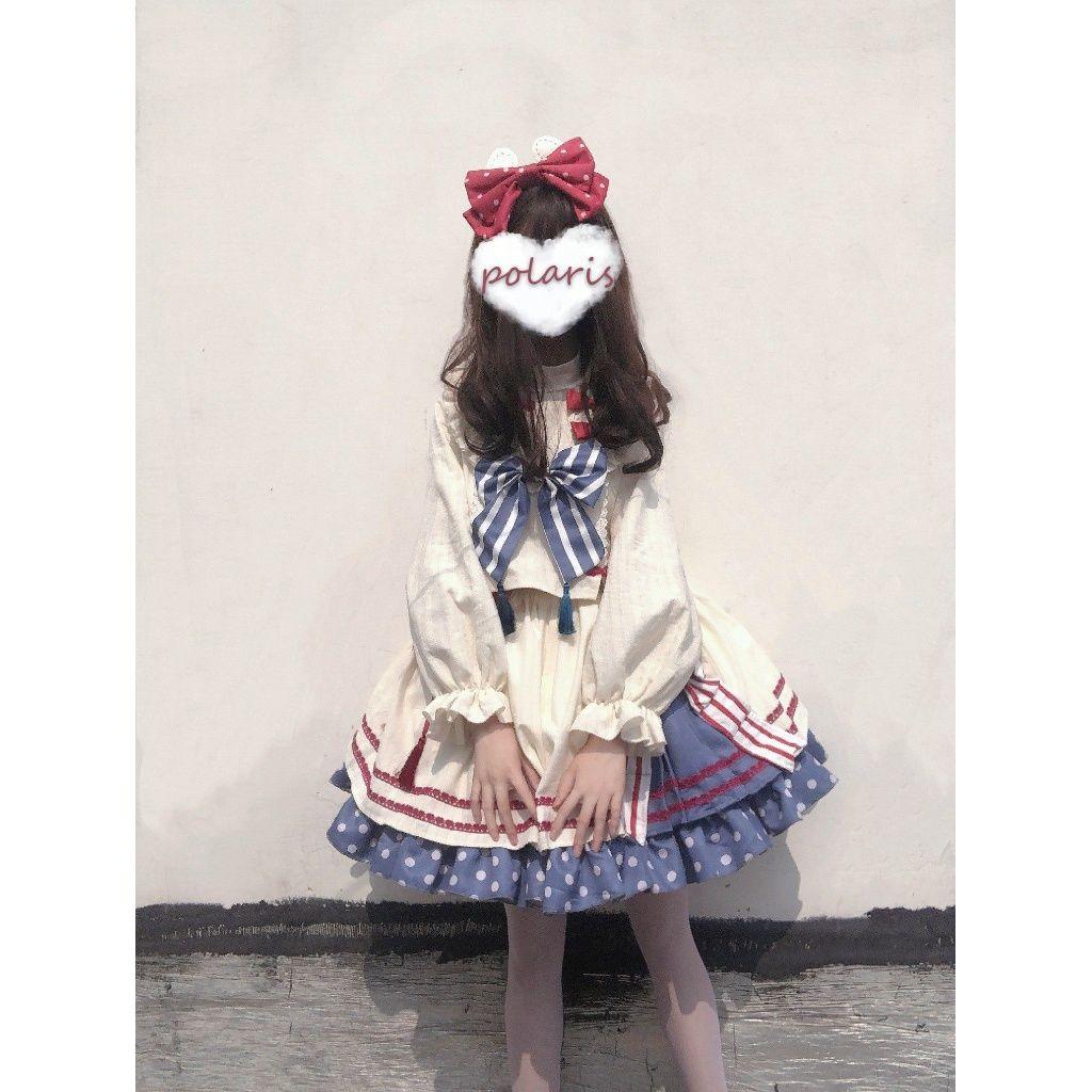 ロリータスカート全セットオリジナルLolita国風大白兔可愛いセットSKトップス日常スカート