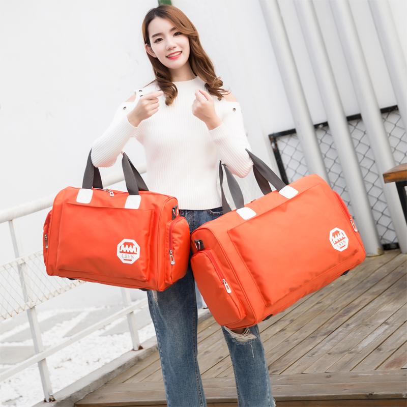 Багаж пакет женщина портативный большой потенциал легкий корейский сумка мешок одежда из водонепроницаемый фитнес пакет путешествие посадка