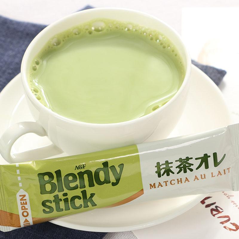 日本进口冲饮品 AGF 宇治抹茶欧蕾风味速溶奶茶固体饮料84g 7本入
