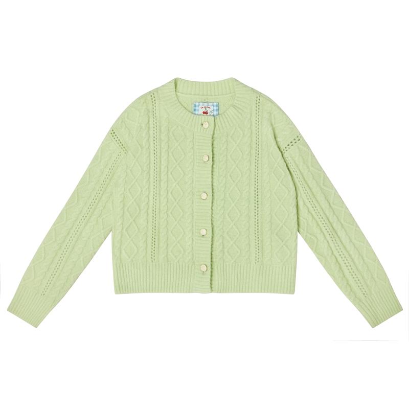 LLANO青提子 外搭奶奶开衫软糯针织温柔风毛衣上衣外套女装冬春季