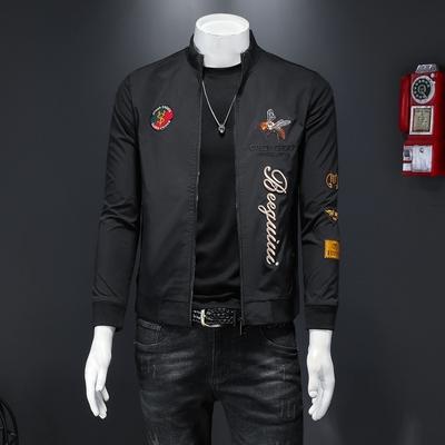 D232     27010    P145  男士2021春季夹克个性潮流棒球服外套