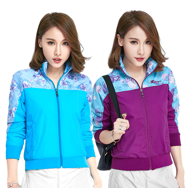 One piece top outdoor double layer quick drying, ventilating and air proof winter sports windbreaker, waterproof womens jacket, Stormbreaker